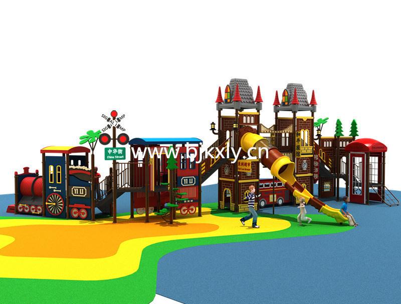 欧式城堡06-幼儿实木床,儿童组合滑梯,幼儿园滑梯,,园