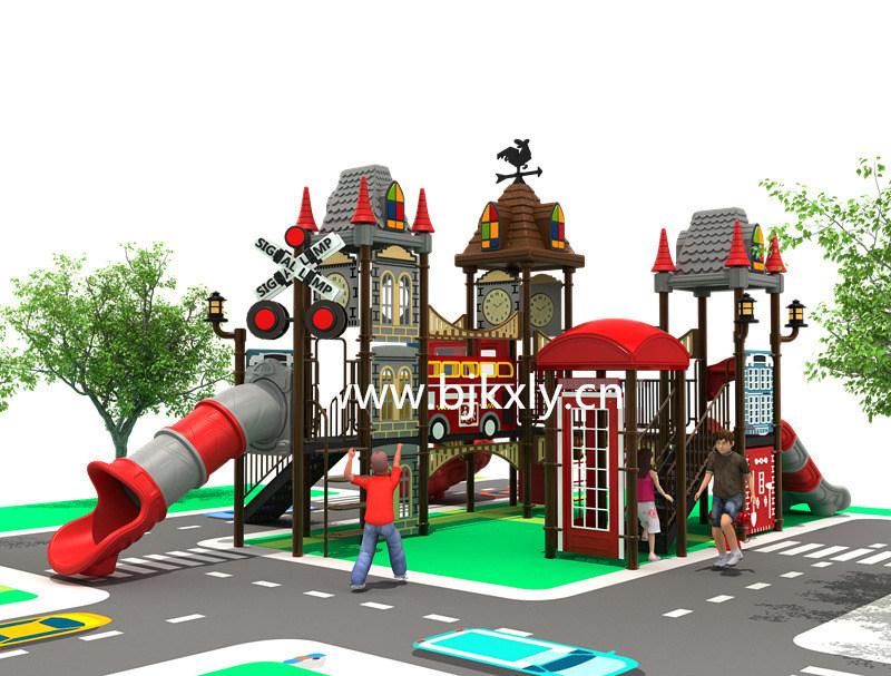 欧式城堡08-幼儿实木床,儿童组合滑梯,幼儿园滑梯,,园