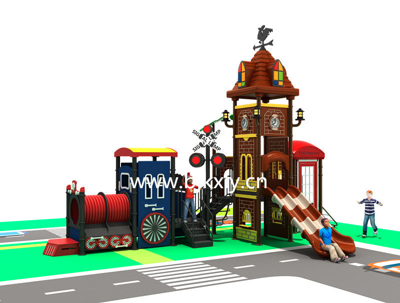 欧式城堡10-幼儿实木床,儿童组合滑梯,幼儿园滑梯,,园