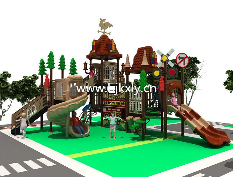 欧式城堡11-户外幼儿园滑梯,无动力游乐设施,室外公园儿童游乐设施,不锈钢滑梯_北京开心乐园玩具有限公司